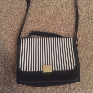 Striped cross body purse